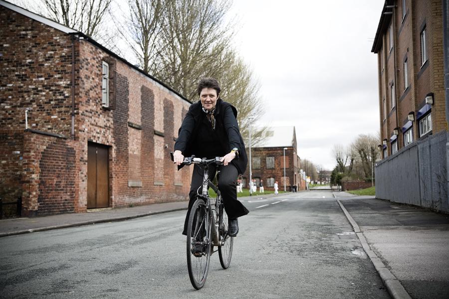Liz Clarke cycling